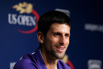 Novak Djokovic is all smiles