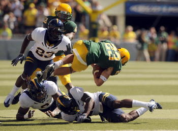 Josh Hill (No. 23) highlights an experienced Cal defense.