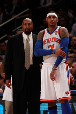 Melo has admitted that he supports the Knicks decision to remove the interim tag from Mike Woodson making him the head coach.