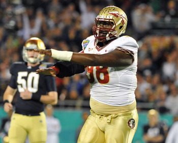 Cameron Erving moves from the defensive line to starter at left tackle in 2012
