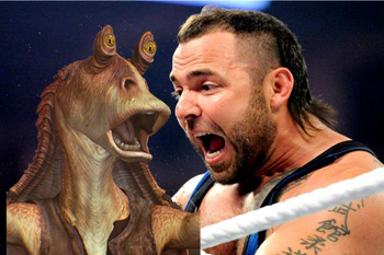 photos from wwe.com and jar-jar-binks.com