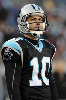 Olindo Mare (10) was released after just one season as the Panthers' kicker.