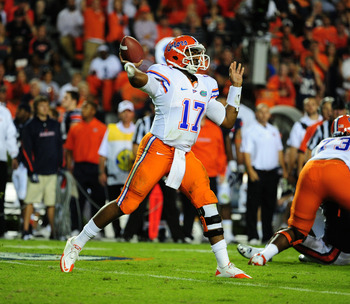 Jacoby Brissett is challenging former top recruit Jeff Driskel for the starting job.