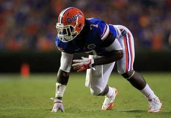 Ronald Powell suffered a torn ACL in Florida's spring game and may not have much of an on-field impact in 2012.