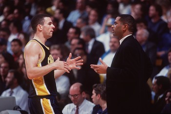 Bozeman (right) took a Cal team to the NCAAs that included Jason Kidd (left) and future NFL Hall of Fame tight end Tony Gonzalez.