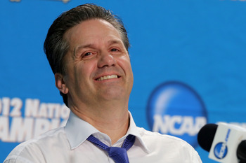 Calipari's the only coach connected with three of the programs in this top 25.