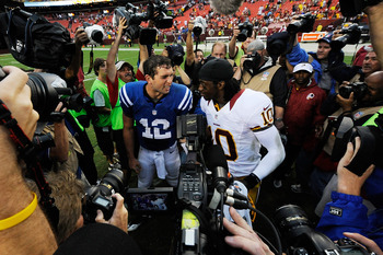 Probably won't see Luck and RGIII together in a meaningful game until 2014.