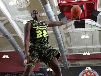 Anthony Bennett elevates for a dunk in the 2012 McDonald's All-American Game. usatoday.com