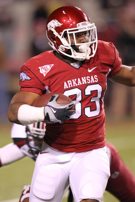 Dennis Johnson is the top kick returner for Arkansas, but Nate Holmes will also be called upon in various situations.