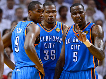 Ibaka, Durant, and Kendrick Perkins are motivated to win a title