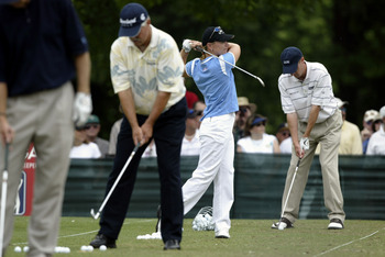 Annika Sorenstam found herself in the middle of things at the 2003 Colonial Invitational