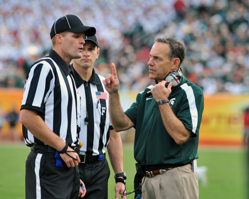 Michigan State head coach Mike Dantonio will have to be patient with his new starting quarterback this year.