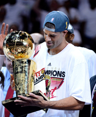 Shane Battier waited 11 years to hold the Larry O'Brien trophy for the first time.