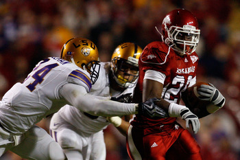 Arkansas' 2010 upset victory over LSU came at War Memorial Stadium