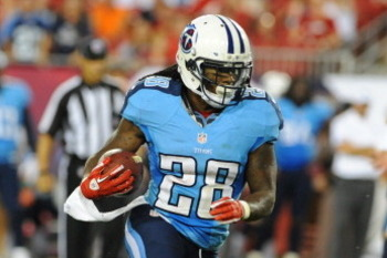 Tennessee Titans running back Chris Johnson