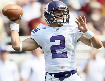 Kain Colter is stepping into the void at quarterback now that Dan Persa is out of eligibility.