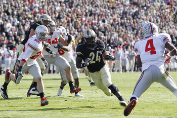 Akeem Shavers will be Purdue's lead tailback in 2012 as Ralph Bolden continues to struggle with knee issues.