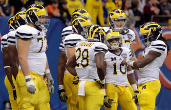 Can the Michigan Wolverines build on the 11-2 mark they posted in Brady Hoke's first season, or will they regress in 2012?