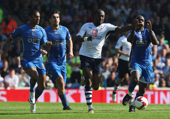 Didier Zokora in action against Portsmouth during Spurs' terrible run.