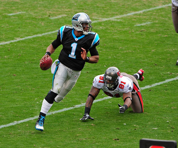 Newton totaled eight TDs against the Bucs in two games in 2011.