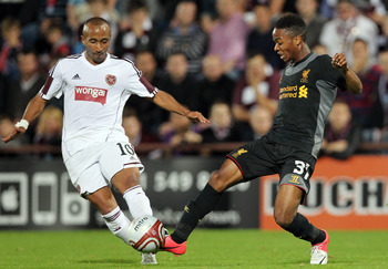 Raheem Sterling, Hearts vs Liverpool