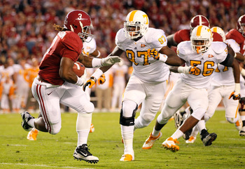 LB Curt Maggitt is one of several young stars on a rising Tennessee defense that will be guided by former Alabama LB coach Sal Sunseri.