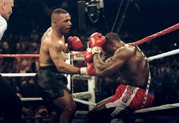 """Iron"" Mike Tyson was the dominant force in the heavyweight division in the late 1980's."