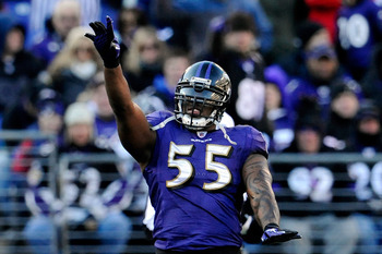 Suggs leaves a gap in the Ravens defense after winning the Defensive Player of the Year award last season