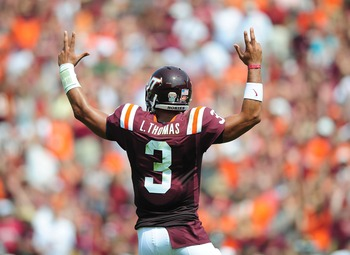 Thomas has to improve his accuracy if Virginia Tech are to succeed.