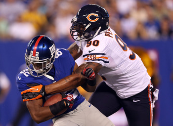 New York Giants rookie WR Rueben Randle fighting for that No. 3 spot on the depth chart in a preseason game on Aug. 24.