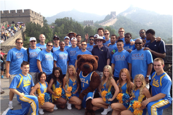 UCLA at the Great Wall/photo credit: http://twitpic.com/amzoo8