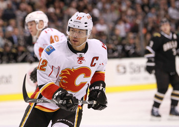 Jarome Iginla captains the Calgary Flames of the NHL's Northwest Division.