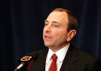 NHL Commissioner Gary Bettman.