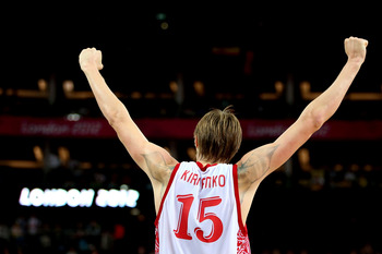 Andrei Kirilenko lit it up at the Olympics.
