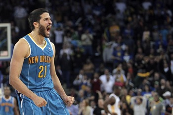 Greivis Vasquez is screaming at those people who didn't draft him.
