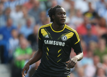 BRIGHTON, ENGLAND - AUGUST 04:  Romelu Lukaku of Chelsea in action during the pre season friendly match between Brighton & Hove Albion and Chelsea at the Amex Stadium on August 4, 2012 in Brighton, England.  (Photo by Mark Thompson/Getty Images)