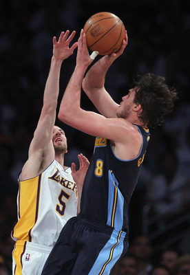 Gallinari is adept at getting shots off