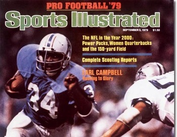 Earl Campbell on the cover of Sports Illustrated. From sportsillustrated.cnn.com