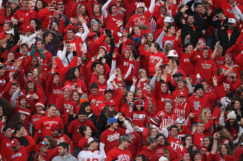 The Camp Randall Stadium student section is very boisterous and has been lightly reminded to refrain from its poor language in the past.