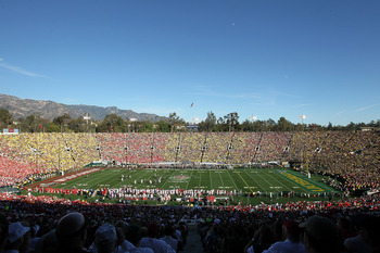 The Badgers lost to Oregon 45-38 in last year's Rose Bowl. Wisconsin will return to Pasadena this season.