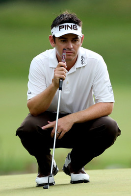 Louis Oosthuizen has a two-stroke lead going into the final round of the Deutsche Bank Championship.