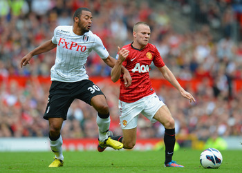 Cleverley holding possession last week against Fulham.