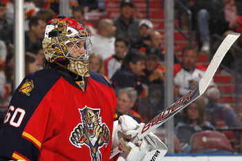Goalie Jose Theodore of the Florida Panthers.