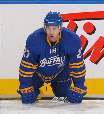 Shaone Morrisonn, formerly of the Buffalo Sabres.