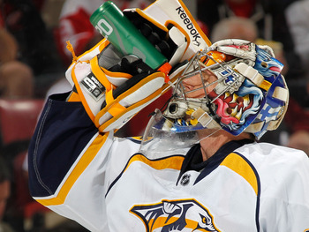 Pekka Rinne of the Nashville Predators.