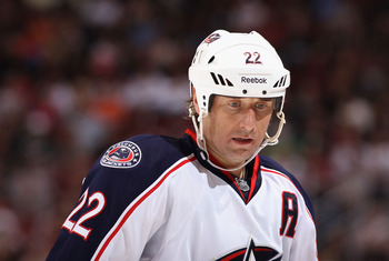 Vinny Prospal will have to lead a new look Blue Jackets team in the absence of Rick Nash.