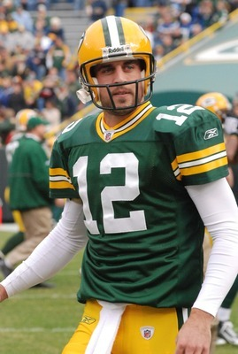 Aaron Rodgers is the leader of the Pack. Raymond T. Rivard photograph