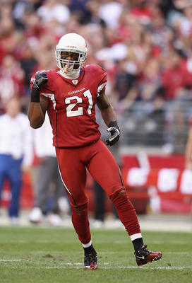 GLENDALE, AZ - DECEMBER 11:  Cornerback Patrick Peterson #21 of the Arizona Cardinals during the NFL game against the San Francisco 49ers at the University of Phoenix Stadium on December 11, 2011 in Glendale, Arizona.  The Cardinals defeated the 49ers 21-