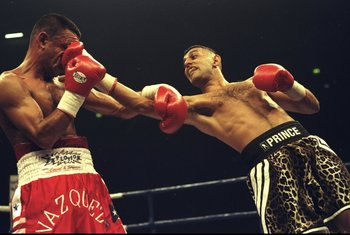"""Prince"" Naseem Hamed was known for his colorful antics in the ring."