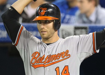 Nolan Reimold's absence has caused O's manager Buck Showalter to use a variety of options in left field.